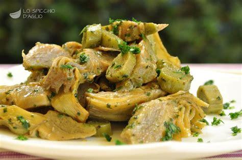 ricette per cucinare carciofi ricetta carciofi trifolati le ricette dello spicchio d