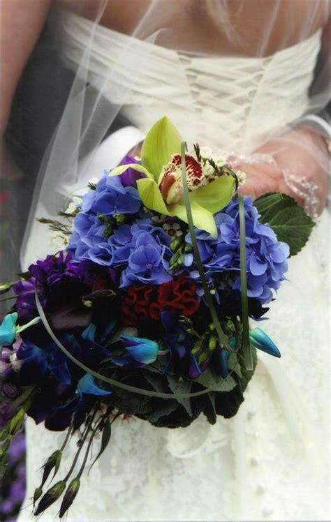 Peacock Theme Wedding Magical Peacock Bridal Bouquets