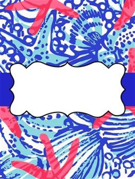 editable binder covers lilly pulitzer cute binder