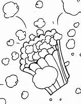 Popcorn Coloring Pages Printable Worksheets sketch template