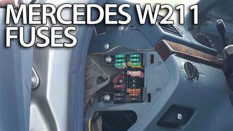 where are fuses and relays in mercedes w211 fusebox location e class
