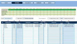Hotel Room Reservation Template Excel