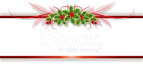 Type Of Christmas Trees by Holly Ribbon Banner Stock Vector Freeimages Com