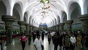 Riding 5 stops on the Pyongyang Metro (North Korea) - YouTube