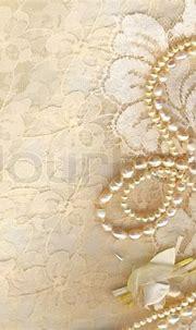 Wedding background with cream silky decoration accessories ...