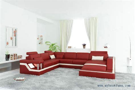 Free Shipping Modern Sofa U Shaped, Passion Red Hot Sale