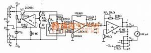 The Application Circuit Diagram Of Thermal Conductivity Gas Sensor With Rtd