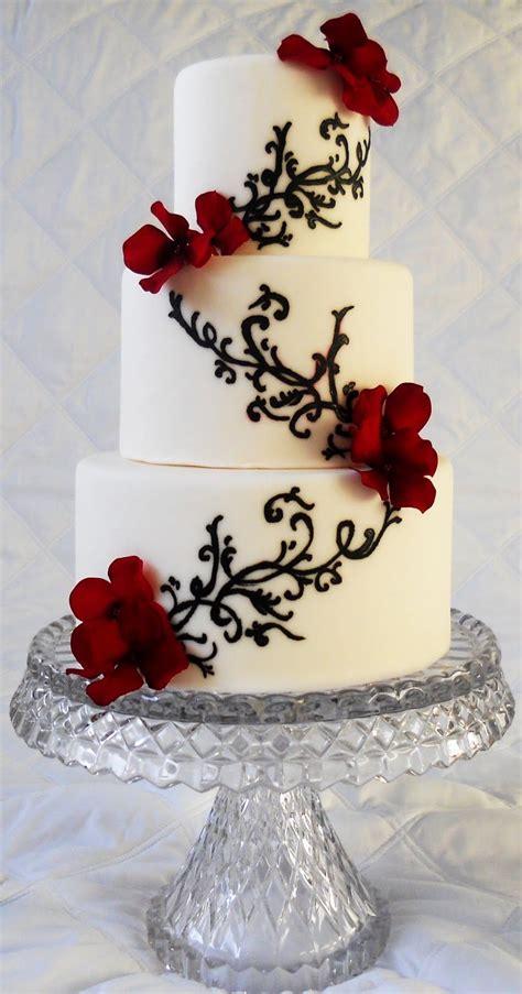 Pin By Pat Korn On Cake Decorating Wedding Cake Red