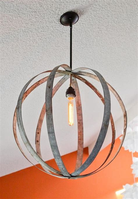 diy wine barrel ring chandelier decoist