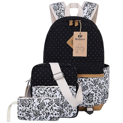 antique pot ls bluboon canvas backpack girls bags set for teens