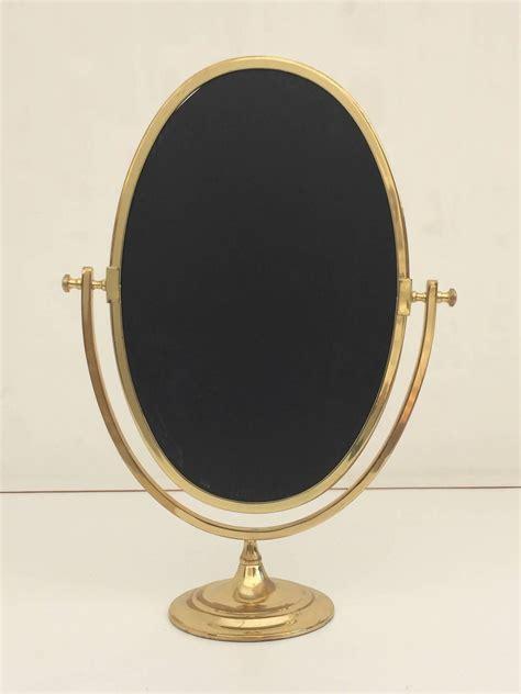 oval brass vanity mirror  stdibs