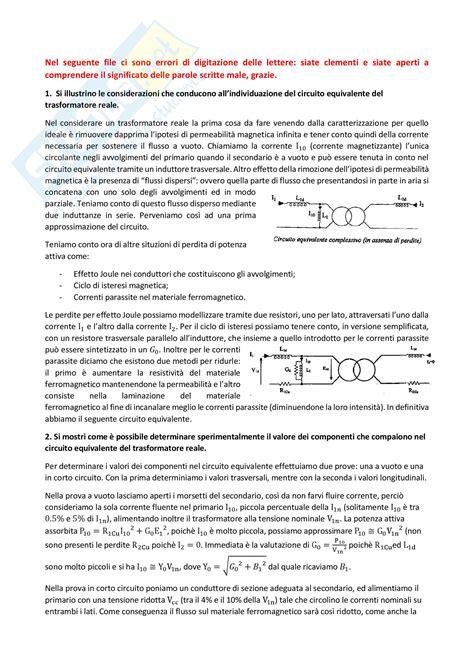Dispensa Elettrotecnica by Risposte A Domande Appunti Di Elettrotecnica