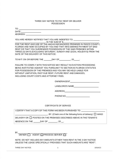 free 3 day notice form 3 day notice to pay or quit form pdf idealstalist