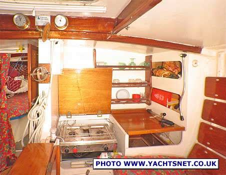 boat galley kitchen designs cornish crabber 24 archive details yachtsnet ltd 4853