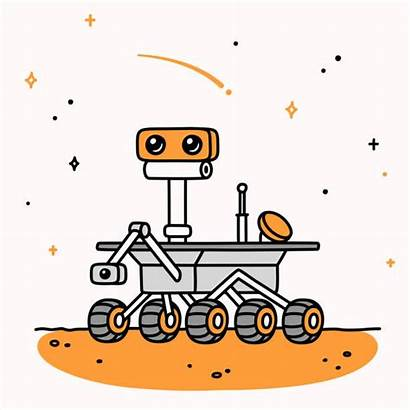Mars Rover Cartoon Space Drawing Clip Clipart