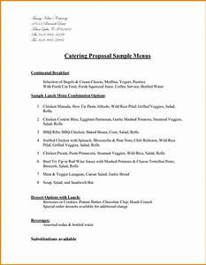 catering proposal sample it resume cover letter sample With catering business proposal letter sample