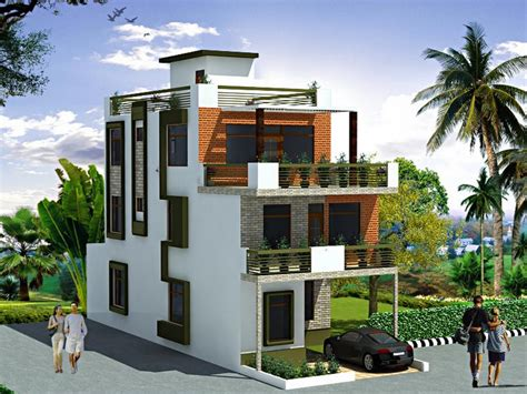 storey contemporary house plan  small plots