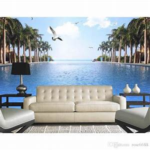 Home Decor Living Room Natural Art Customized Wallpaper ...