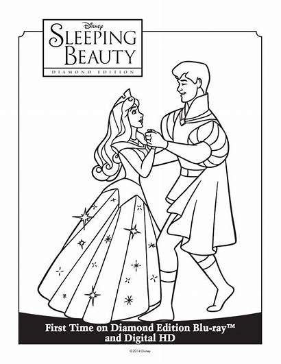 Coloring Sleeping Beauty Pages Disney Colouring Sheet