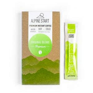 Great for travel, camping and early. Alpine Start Original Blend Instant Coffee Reviews - Trailspace