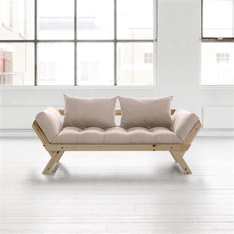 canapé futon pas cher canapé convertible en bois bebop karup avec matelas futon