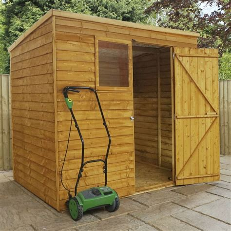 7x5 shed 7x5 pent garden shed single door wooden sheds overlap clad