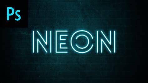 Neon Text Effect Photoshop Tutorial - YouTube