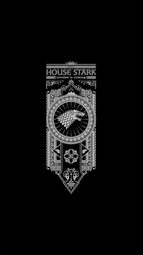 And fire banner black background house stark wallpaper