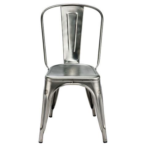 chaise acier chaise a de tolix acier brut gris lasuré
