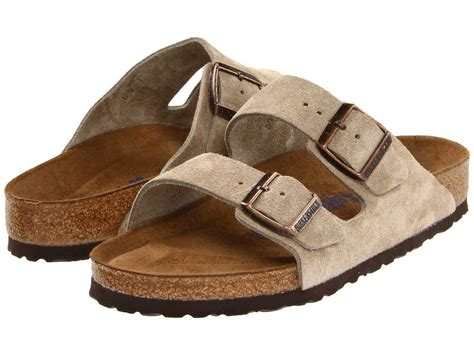 Men's Birkenstock Sandals Soft Footbed Arizona Taupe Suede