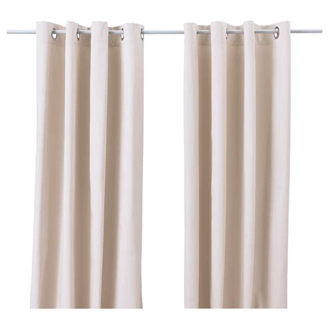 merete curtains 1 pair beige 145x250 cm ikea