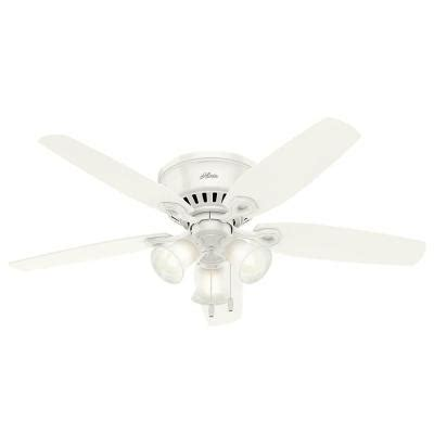 Low Profile Ceiling Fans For Small Rooms by Builder Low Profile 52 In Indoor Snow White