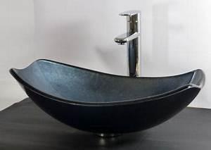 Waschbecken Oval Aufsatz : nero badshop aufsatz glas waschbecken blau grau oval eckig online kaufen ~ Orissabook.com Haus und Dekorationen