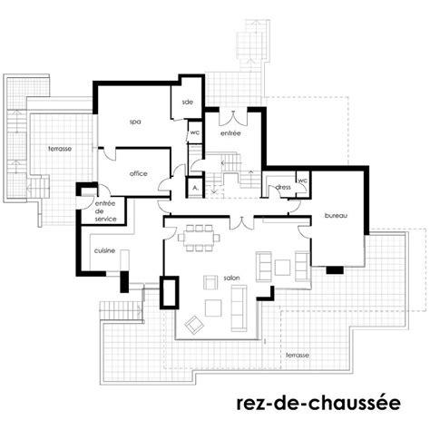 chaise bureau architecte plan maison en pente architecture madame ki