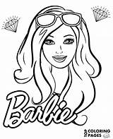 Barbie Face Coloring Drawing Pages Doll Sheet Easy Drawings Portrait Print Books sketch template