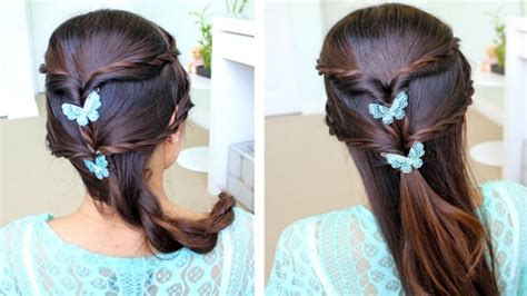 How To Do Fancy Rope Braid Half-updo Hairstyle For Medium Long Hair Step By Step Diy Tutorial
