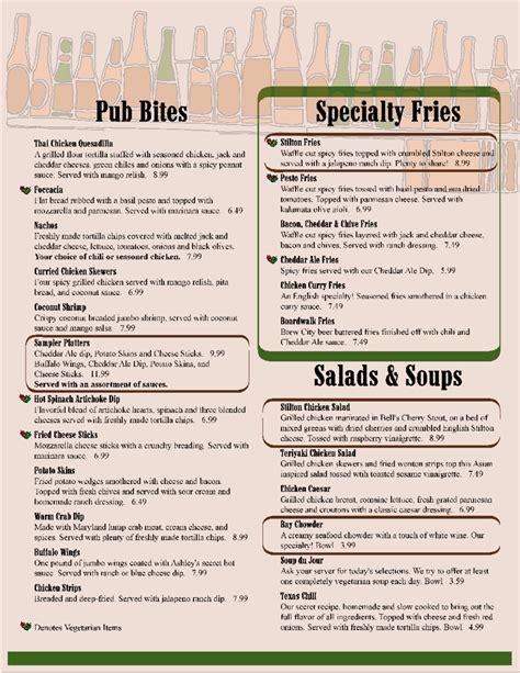 menu template fillable printable  forms