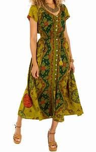 Robe Style Boheme : robe longue style boh me boutonn e au devant lidia ~ Dallasstarsshop.com Idées de Décoration