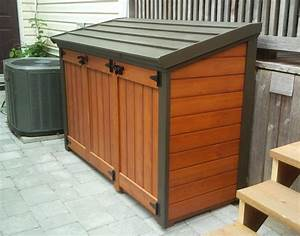 Diy Garbage Can Shed Plans Diydry co