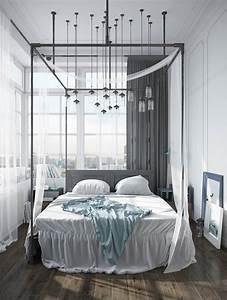 Lit Baldaquin Pour Une Chambre De Dco Romantique Moderne