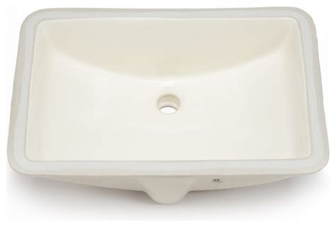 Hahn Hahn Ceramic Large Rectangular Bowl Undermount