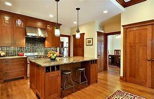 Decor ideas for craftsman style homes for Kitchen cabinet trends 2018 combined with arts and crafts style wall clock