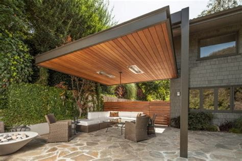 metal frame pergolas in combination with wood by pelasgos