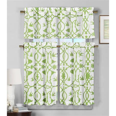 duck river dawn apple green faux linen kitchen curtain