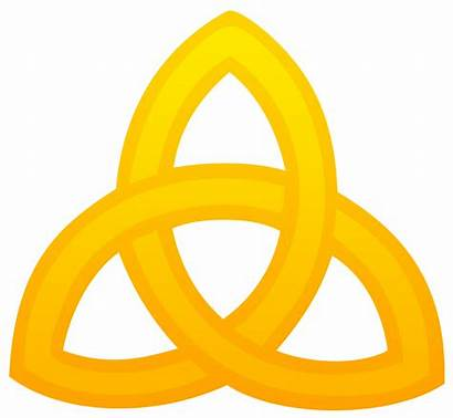 Symbol Trinity Triquetra Golden Clipart Clip Gold