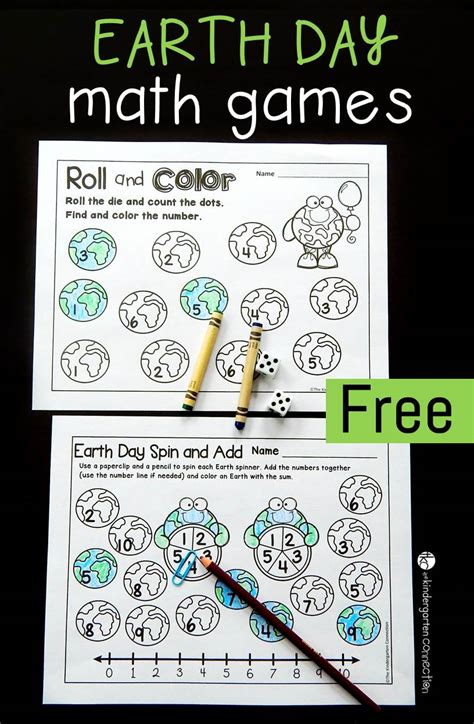 free printable earth day math 337 | Earth day math games pin