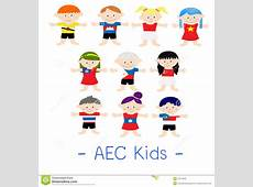 AEC Asian Kids stock vector Image of asean, countries