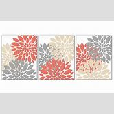 coral-colored-wall-art
