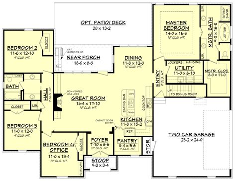 Floors Plans :  4 Bedrm, 2210 Sq Ft Home Plan