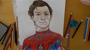 Spider-man Homecoming Peter Parker Speed Drawing - YouTube